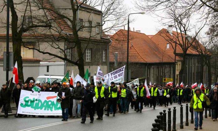 Демонстрация польских фермеров