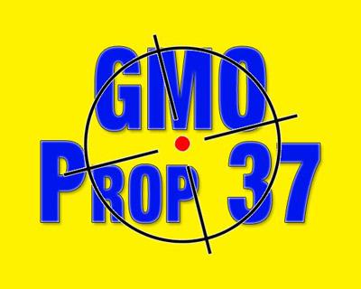 Фото. Лозунг сторонников выступающих за маркировку ГМО в Калифорнии
