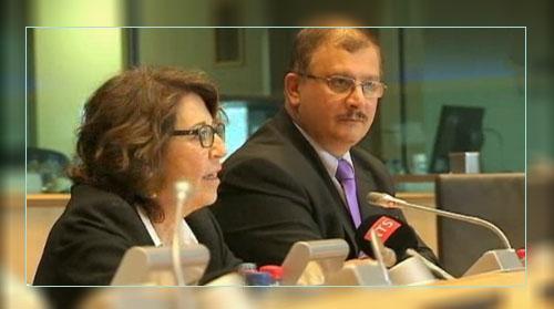 Фото. Исследователь ГМО - Сералини и Корин Лепаж, депутат Европарламента