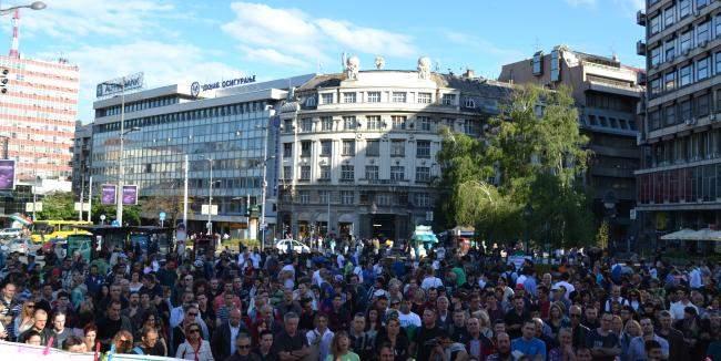 Фото. Протестующие против ГМО в Сербии