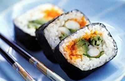суши на блюде