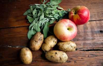 яблоки с картофелем