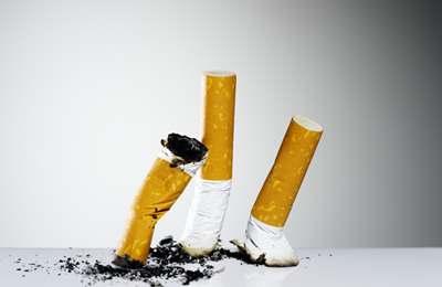 потушенные сигареты