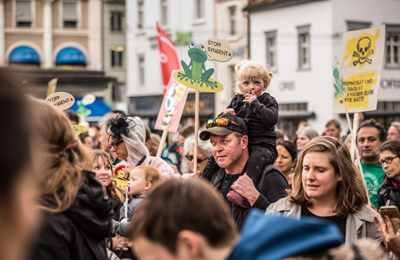 марш против Монсанто в Базеле