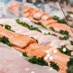 порезанный лосось