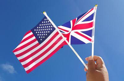 флаг Великобритании и США