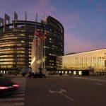 движение возле Европарламента