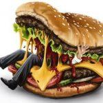 бургер с человеком