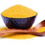 золотой рис с ложкой