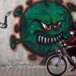 графити коронавирус