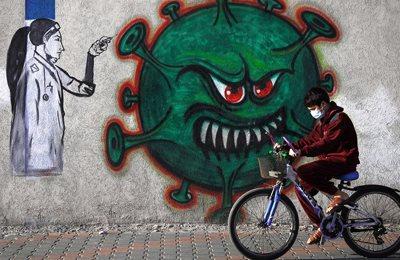 коронавирус на стене